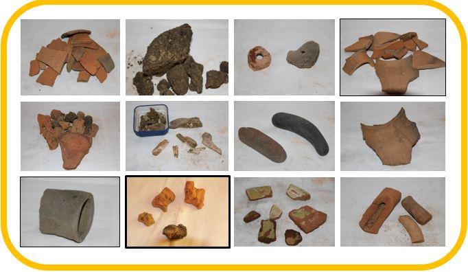 Tessons de céramique-potiers-Bretx-pégau-trompe d'appel