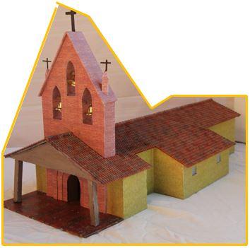 Maquette de l'église de Bretx