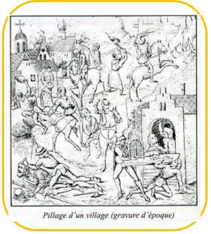 Pillage Village-Gravure