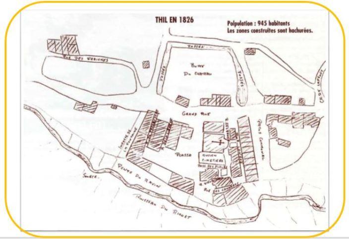 Plan de Thil de 1826