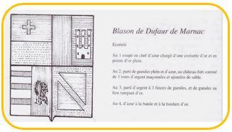 Armoirie de Dufaur de Marnac