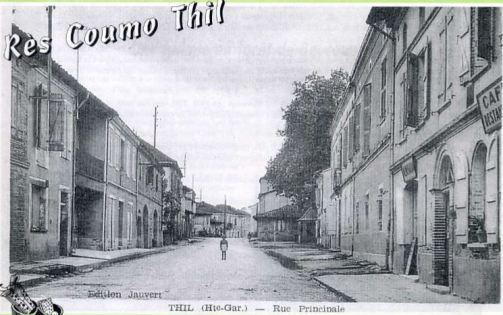 Rue principale de Thil en Haute Garonne