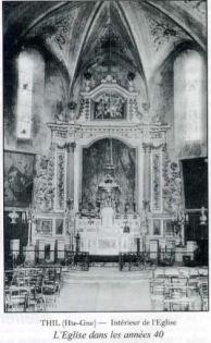 Intérieur de l'église Saint Laurent de Thil