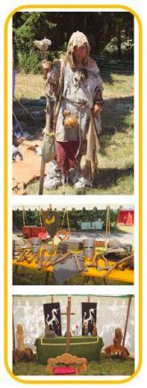 Scrofuleuse, armes du moyen-âge et culte paien, journées médiévales de Bouillac.