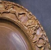 Décors du plat en argent du trésor de Caubiac