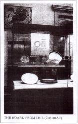 Vitrine du trésor de Thil au British Muséum