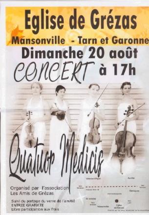 Concert Grézas-affiche de l'Orchestre
