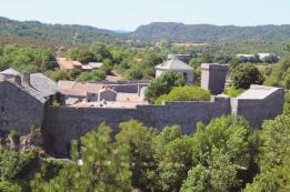 Cité Templière vue depuis le moulin