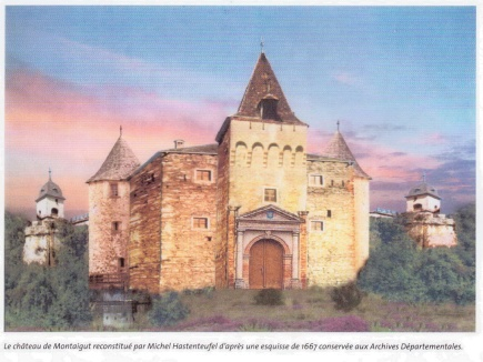 Château de Montaigut sur Save reconstitué par Michel Hastenteufel