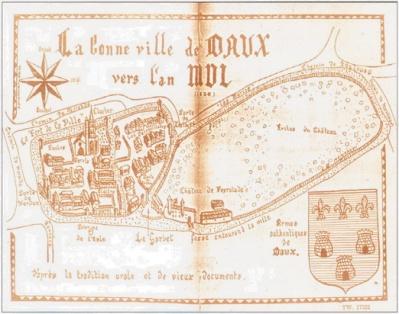 Plan de Daux vers 1500